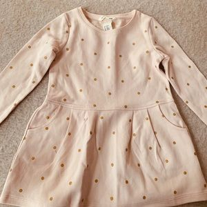 H&M Pink and gold dot shirt